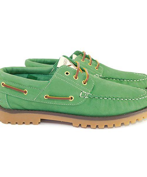Vert Chaussures bateau Sagone Lui/Elle